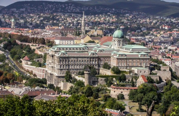view of the royal castle on the buda side of budapest