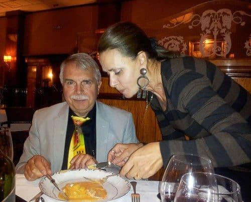 Tasting Laszlo's Dessert at Gundel