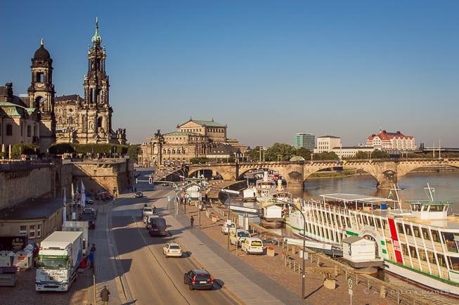 Silhouette Dresden Altstadt