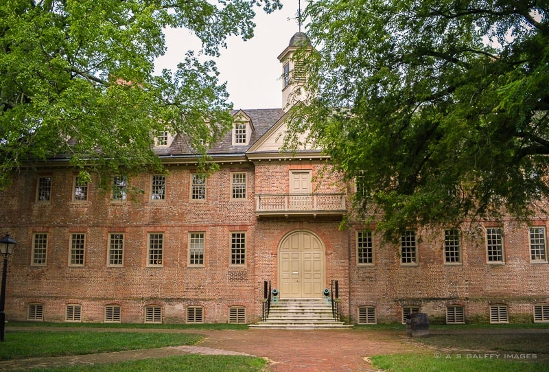 College of William and Mary, founded in 1693 by William III and Queen Mary II