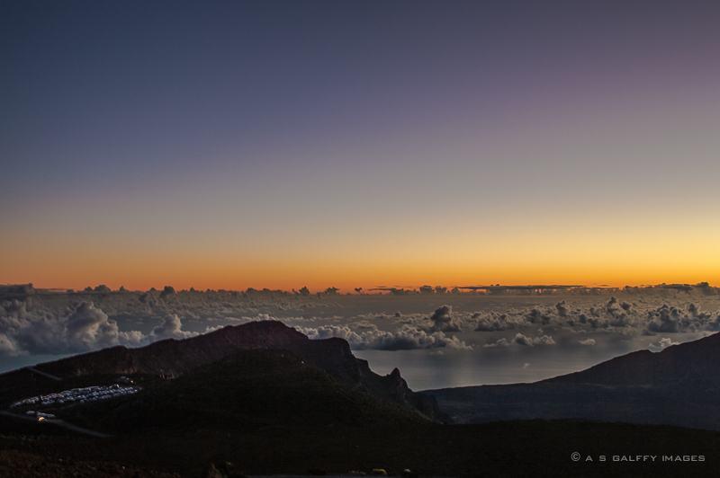 Image depicting the sky just before sunrise at Haleakala