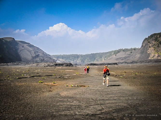 Walk through the caldera