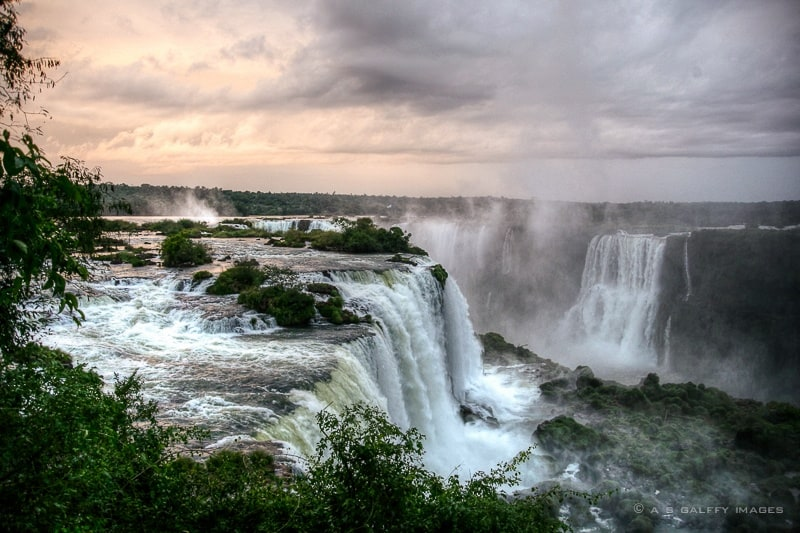 Iguazú Falls seen from Brazilian side