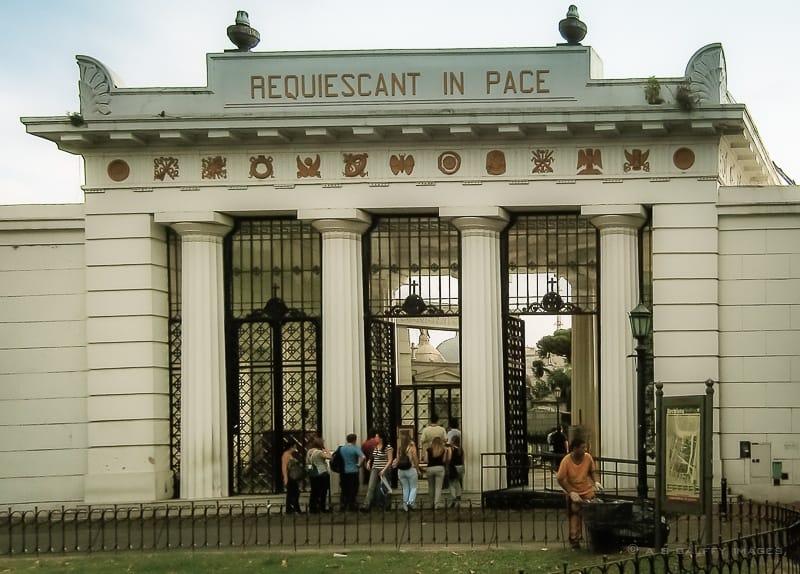 La Recoleta Cemetery Entrance