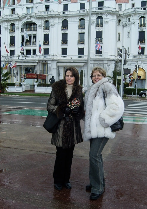With my sister, in front of Hotel Negresco