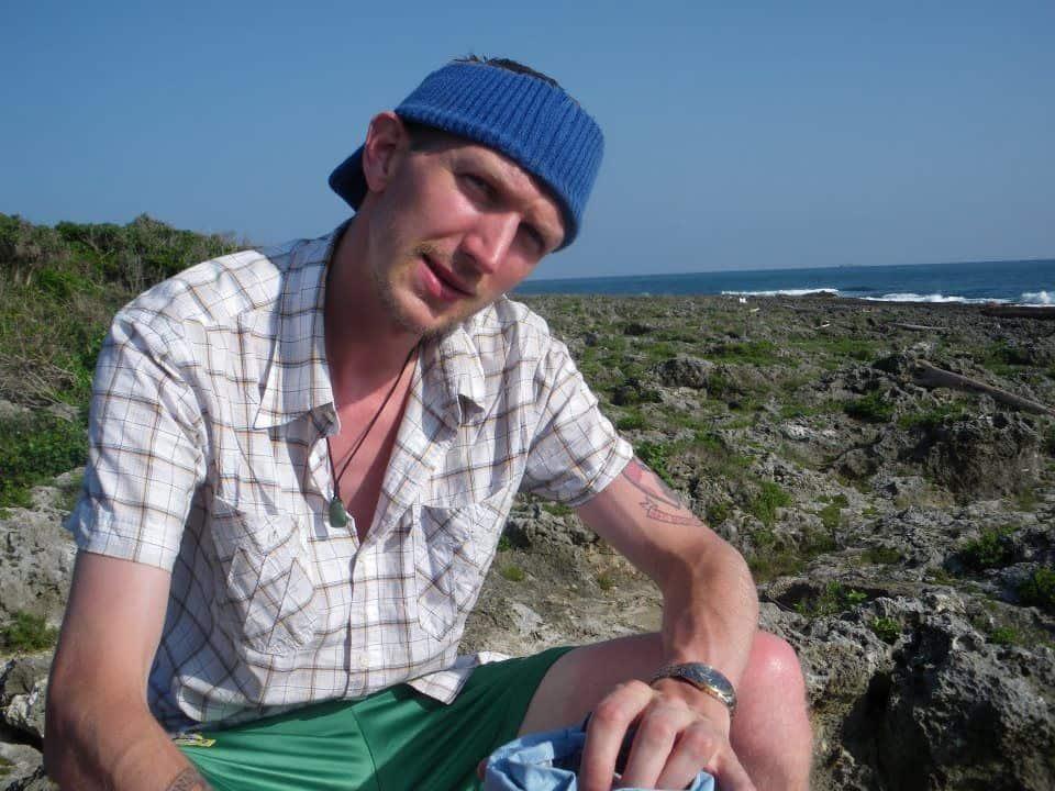 Jonny Blair Relaxing at Eluanbi - the south East tip of Taiwan