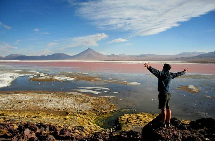 Enjoying-laguna-colorada-Bolivia