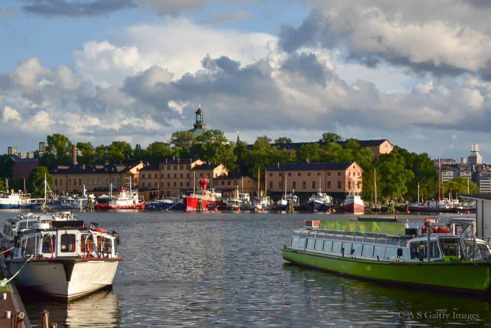 Cruise boats on Lake Mälaren in Stockholm