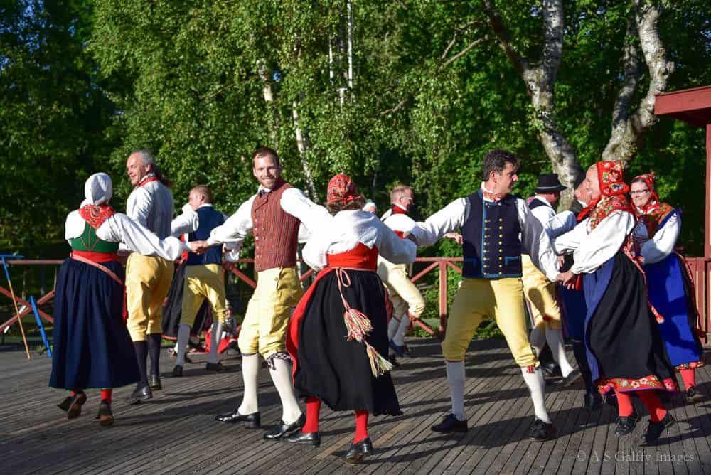 image depicting folk Swedish dances in Skansen